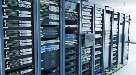 Computer Servers on racks