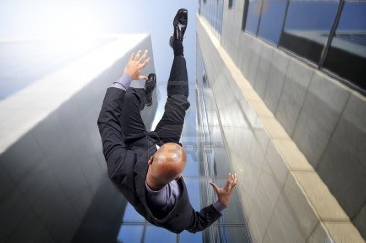 Falling from tall building